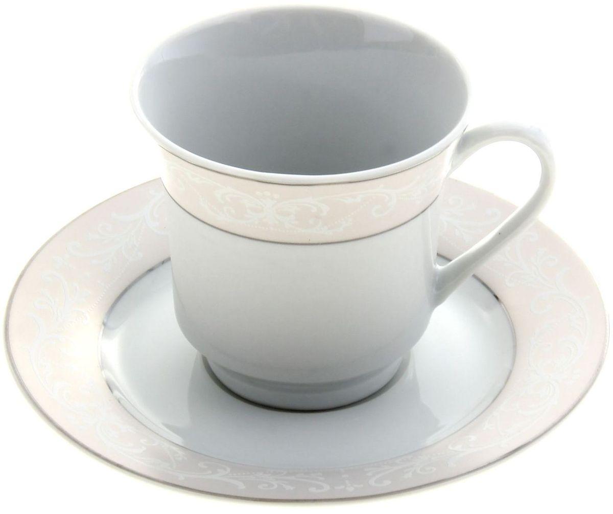 Чайная пара Доляна Миледи, 2 предмета836477Какую посуду выбрать для чаепития? Конечно, традиционный напиток по необходимости можно пить и из помятой алюминиевой кружки. Но все-таки большинство хозяек стараются приобрести изящные и оригинальные модели для эстетического наслаждения неповторимым вкусом и тонким ароматом хорошего чая. Кухонная керамика сочетает в себе бытовую практичность и декоративную утонченность. Нарядный комплект обязательных для чаепития атрибутов изготовлен на родине древнего напитка и привнесет в каждую трапезу особую энергетику.