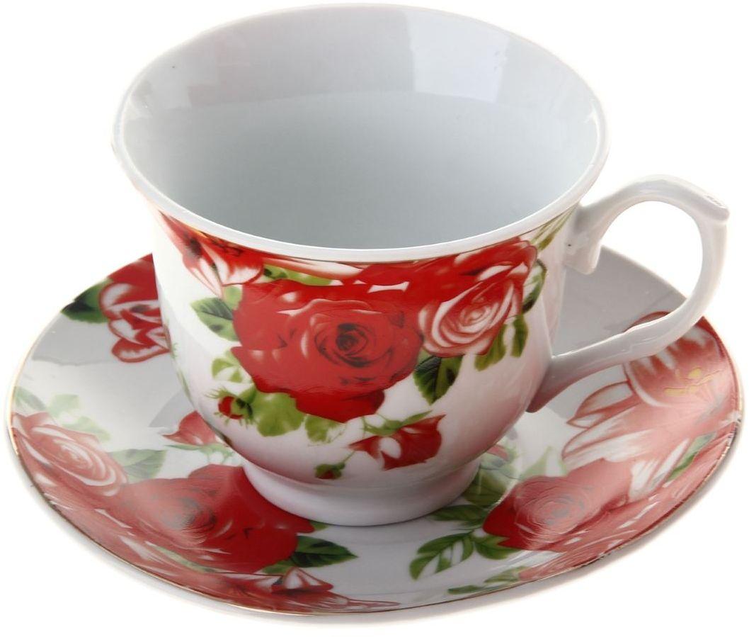 Чайная пара Доляна Белла, 2 предмета836490Какую посуду выбрать для чаепития? Конечно, традиционный напиток по необходимости можно пить и из помятой алюминиевой кружки. Но все-таки большинство хозяек стараются приобрести изящные и оригинальные модели для эстетического наслаждения неповторимым вкусом и тонким ароматом хорошего чая. Кухонная керамика сочетает в себе бытовую практичность и декоративную утонченность. Нарядный комплект обязательных для чаепития атрибутов изготовлен на родине древнего напитка и привнесет в каждую трапезу особую энергетику.
