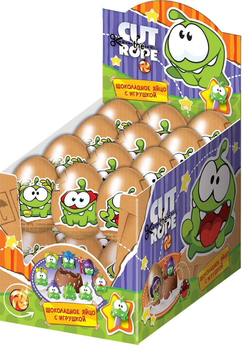 Сut the Rope-2 молочный шоколад с сюрпризом, 24 шт по 20 гУТ18503По мотивам популярной онлайн-игры! 8 пен-топов в коллекции! Молочный шоколад!