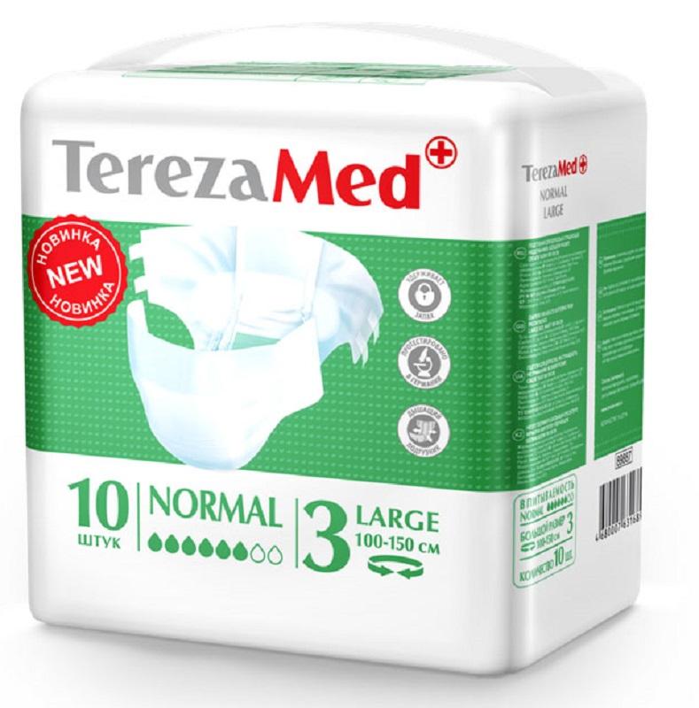 TerezaMed Подгузники для взрослых Normal Large (3) 10 шт 16826