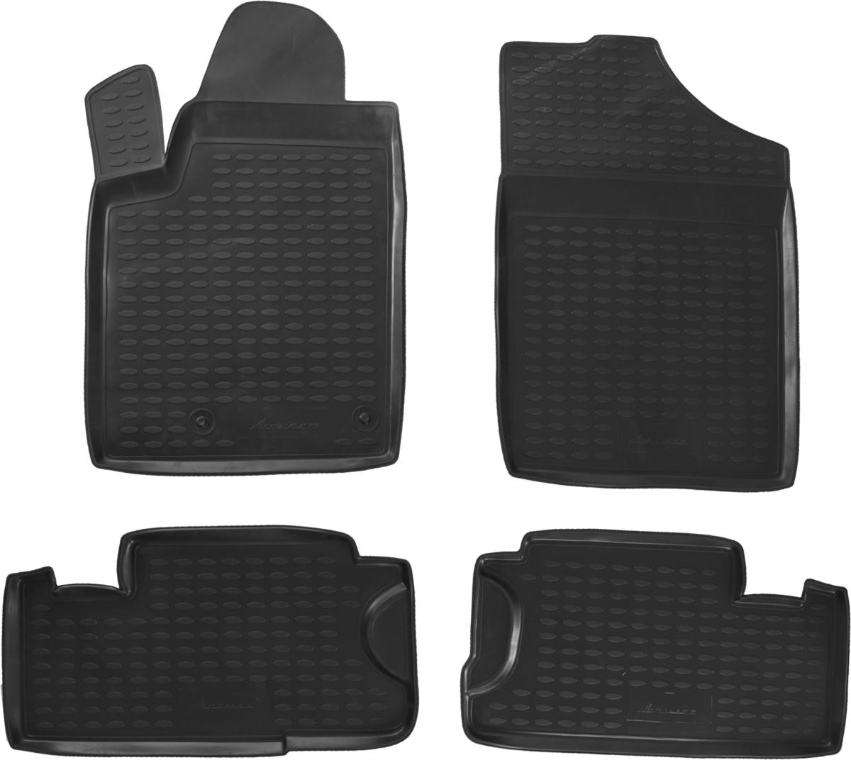 Набор автомобильных ковриков Novline-Autofamily для Peugeot Partner Tepee 06/2008-, в салон, 4 штNLC.38.12.210Набор автомобильных ковриков Novline-Autofamily, изготовленный из полиуретана, состоит из 4 ковриков, которые учитывают все особенности каждой модели автомобиля и полностью повторяют контуры пола. Полиуретановые автомобильные коврики для салона произведены из высококачественного материала, который держит форму, прочный и не пачкает обувь. Коврики в салон не только улучшат внешний вид салона вашего автомобиля, но и надежно уберегут его от пыли, грязи и сырости, а значит, защитят кузов от коррозии. Полиуретановые коврики для автомобиля гладкие, приятные и не пропускают влагу. Ковры для автомобилей надежно крепятся на полу и не скользят, что очень важно во время движения. Чистятся коврики очень просто: как при помощи автомобильного пылесоса, так и различными моющими средствами. Набор подходит для Peugeot Partner Tepee с июня 2008 года выпуска.
