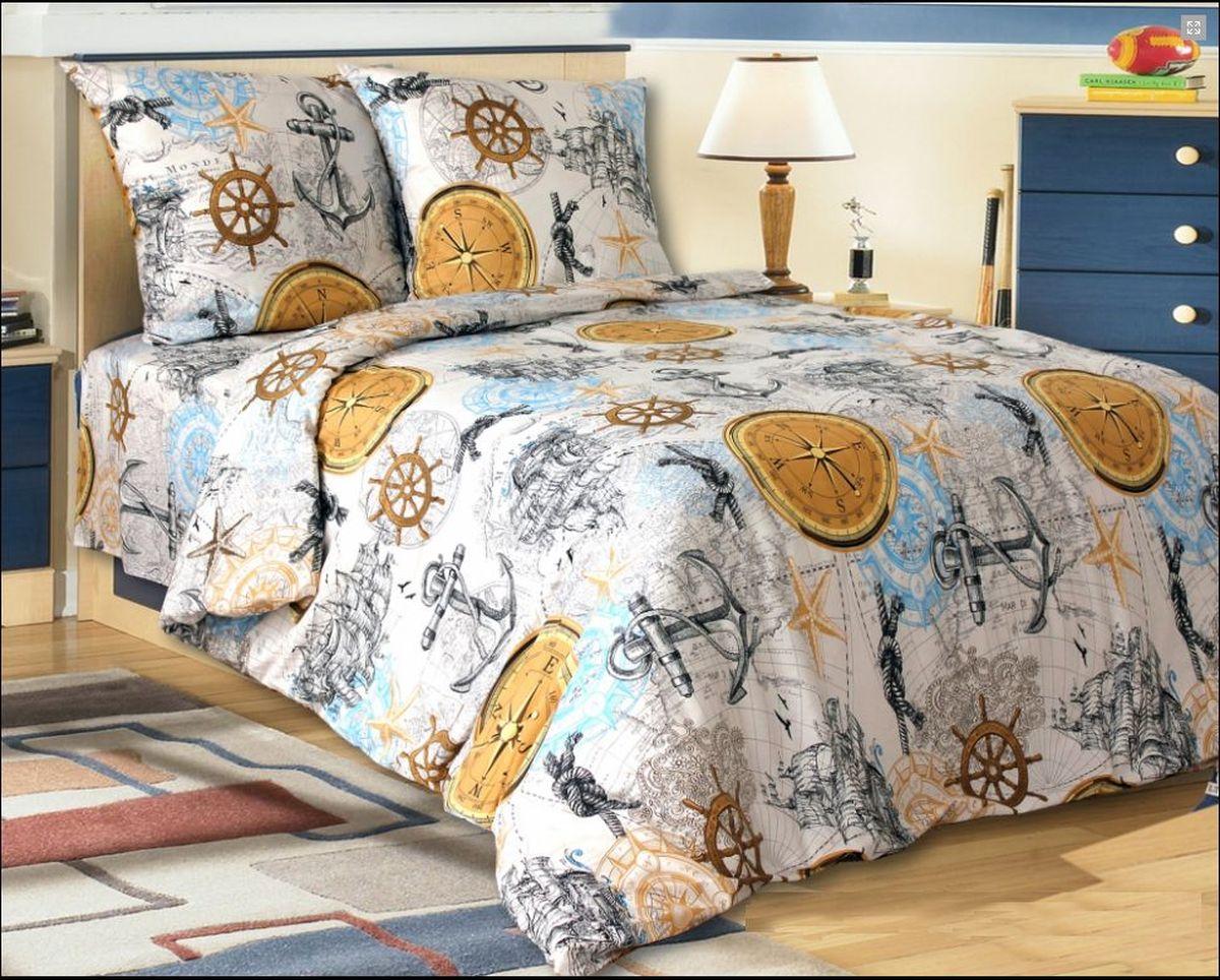 Комплект постельного белья Коллекция Круиз, 2-спальный, наволочки 50x70 смS03301004Комплект постельного белья включает в себя четыре предмета: простыню, пододеяльник и две наволочки, выполненные из поплина.Размер пододеяльника: 175 x 210 см.Размер простыни: 180 x 215 см.Размер наволочек: 50 x 70 см.
