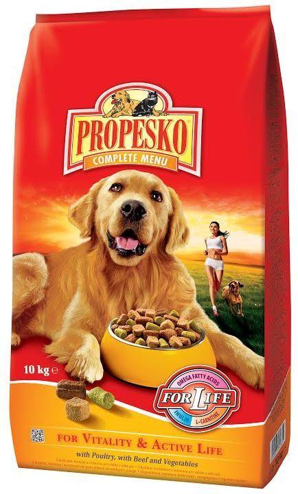 Сухой корм для собак Propesko, птица говядина овощи, 10 кг14258