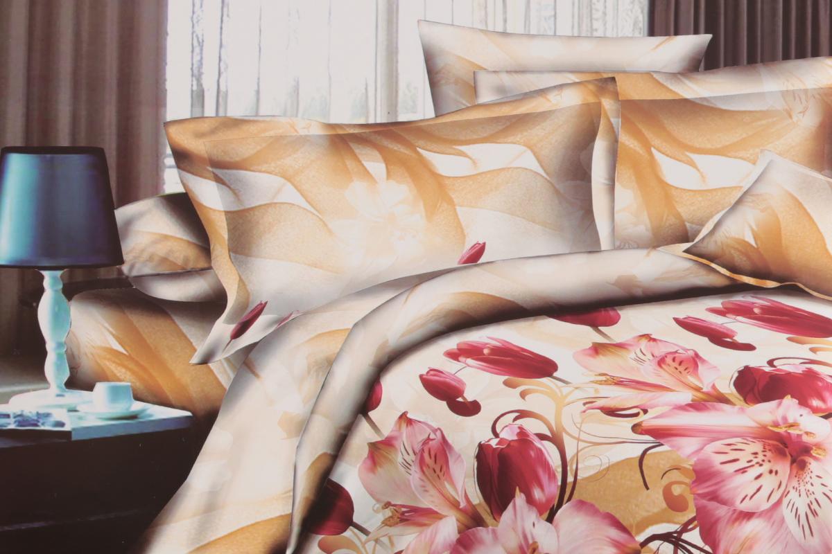 Комплект белья ЭГО Фантазия, евро, наволочки 70x70Э-2036-03Комплект постельного белья ЭГО Фантазия выполнен из полисатина (50% хлопка, 50% полиэстера). Комплект состоит из пододеяльника, простыни и двух наволочек. Постельное белье, оформленное цветочным принтом, имеет изысканный внешний вид и яркую цветовую гамму. Наволочки застегиваются на клапаны. Гладкая структура делает ткань приятной на ощупь, мягкой и нежной, при этом она прочная и хорошо сохраняет форму. Ткань легко гладится, не линяет и не садится. Благодаря такому комплекту постельного белья вы сможете создать атмосферу роскоши и романтики в вашей спальне.