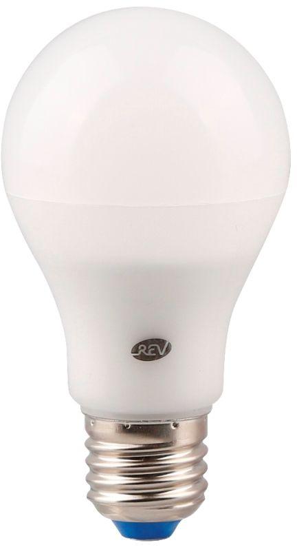 Лампа светодиодная REV, теплый свет, цоколь Е27, 7W32264 1Энергосберегающая светодиодная лампа шаровидной формы теплого свечения. Потребляемая мощность 7Вт. Интенсивность свечения аналогична обычной лампе накаливания мощностью 60Вт. Цоколь Е27. Срок службы 30000 час. Световой поток 560Лм, цветовая температура 2700К. Гарантия 24 месяца.