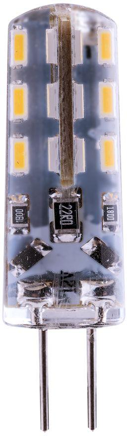 Лампа светодиодная REV, теплый свет, цоколь G4, 2W32365 5Энергосберегающая светодиодная лампа в форме кукуруза теплого свечения. Потребляемая мощность 2Вт. Интенсивность свечения аналогична обычной лампе накаливания мощностью 15Вт. Цоколь G4. Срок службы 30000 час. Световой поток 140Лм, цветовая температура 2700К. Гарантия 24 месяца.