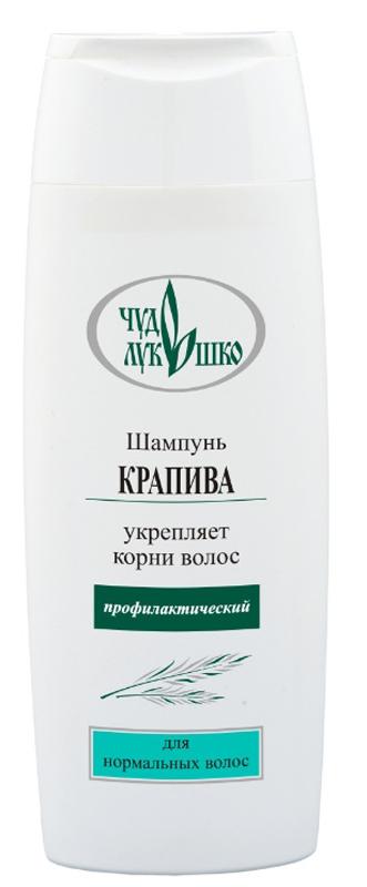 Чудо Лукошко Шампунь Крапива Для нормальных волос, Профилактический, 250 млMP59.4DЭффективно и бережно промывает волосы. Активизирует кровоснабжение волосяных луковиц, питает, поддерживает водно-жировой баланс. D-пантенол восстанавливает разрушенные волосы, укрепляет корни. Витамин Е предохраняет волосы от вредных внешних воздействий и солнца. Кератин укрепляет структуру волос, предотвращая их разрушение. Крапива содержит витамины А, С, Е, К и группы В, делает волосы эластичными, ускоряет их рост, устраняет сухость, ломкость и выпадение, укрепляет волосы, улучшает их структуру, снимает раздражение и шелушение кожи. Аир, лопух, мать-и-мачеха и хмель предупреждают выпадение волос, стимулируют их рост, укрепляют корни волос и питают кожу головы, способствуют легкому расчесыванию. Шампунь защищает волосы от пересушивания и выгорания, придает блеск и пышность, подходит для частого применения.