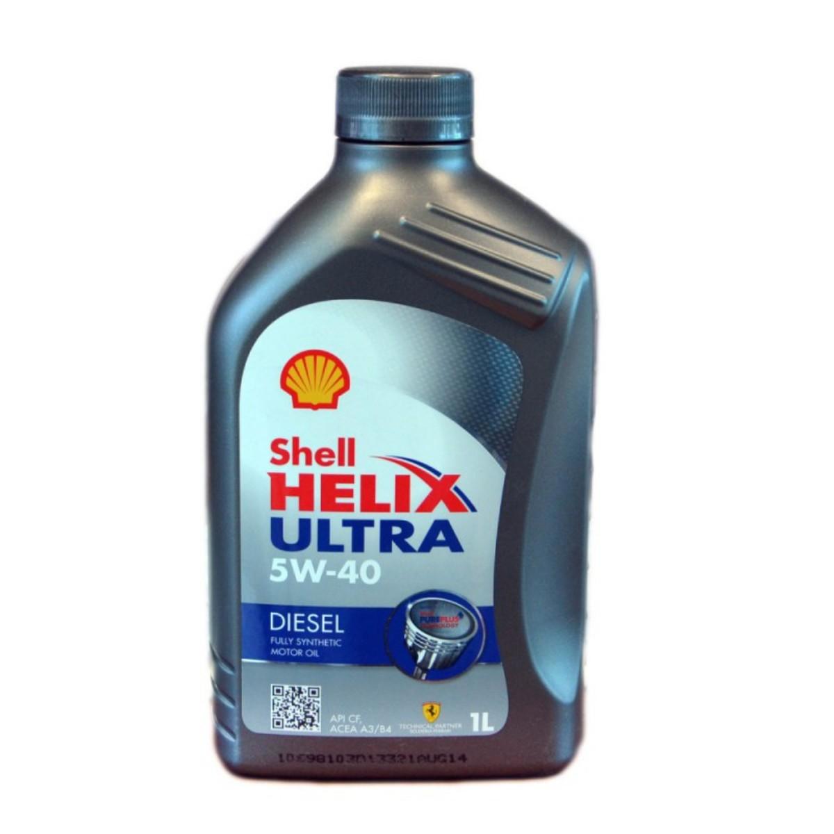 Моторное масло Shell Helix Ultra Diesel 5w40 CF, синтетика, 1 л2706 (ПО)Полностью синтетическое моторное масло для современных дизельных двигателей, созданное на основе уникальной технологии Shell PurePlus. Разработано для двигателей с турбонаддувом, с промежуточным охлаждением, с прямым впрыском топлива.Допуски и одобрения BMW LL-01, [Fiat 9.55535-Z2], MB-Approval 226.5, MB-Approval 229.5, Renault RN0710, VW 505.00