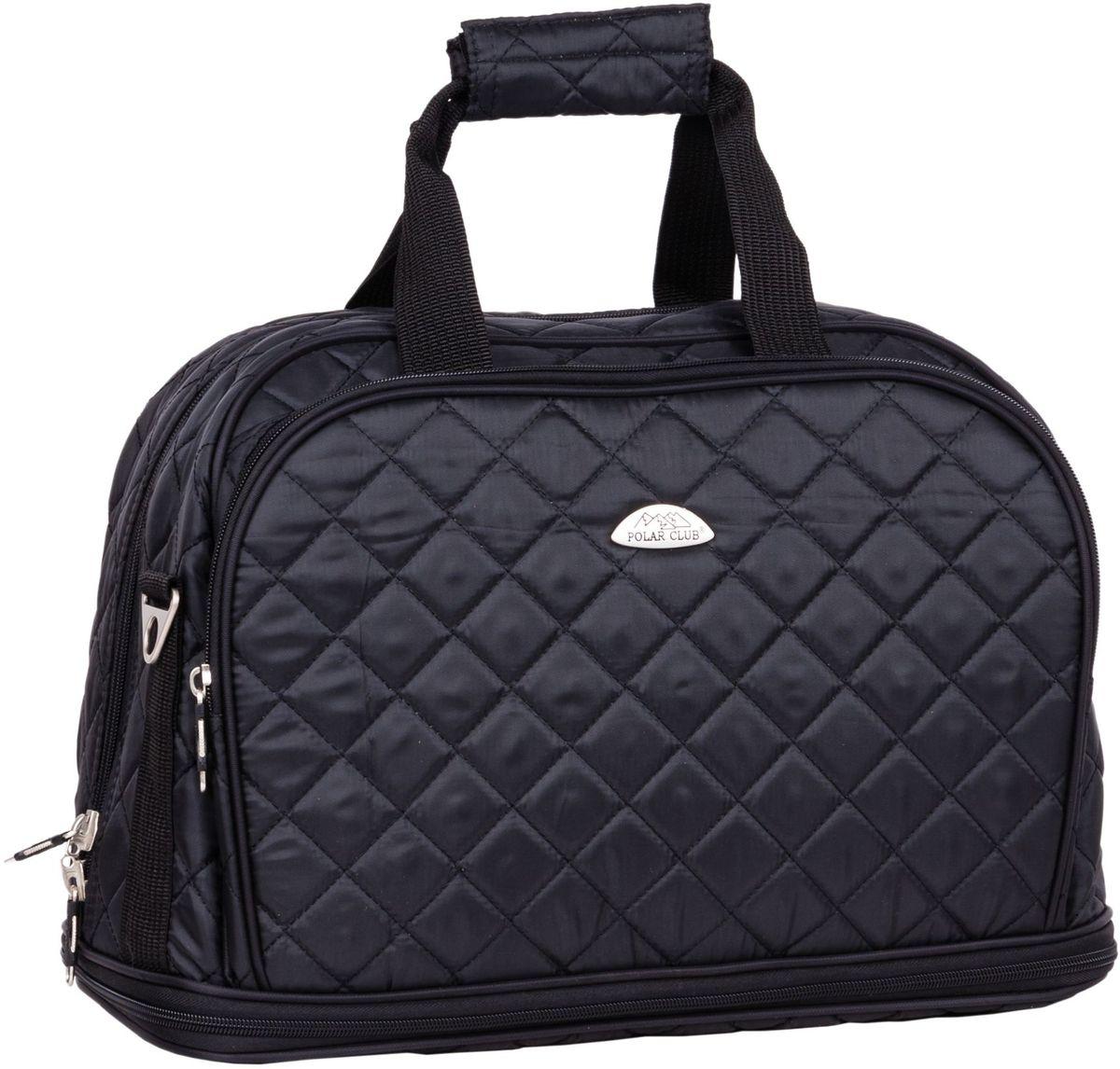 Сумка дорожная Polar Стежка, цвет: черный, 29 л, 30+(13) х 40 х 24 см. П7079П7079Дорожная сумка Polar. Имеется съемный плечевой ремень, что бы носить сумку через плечо. Одно большое отделение для ваших вещей. Увеличивается в длину на 13 см. Два кармана спереди сумки на молнии. Высота ручек 17 см.