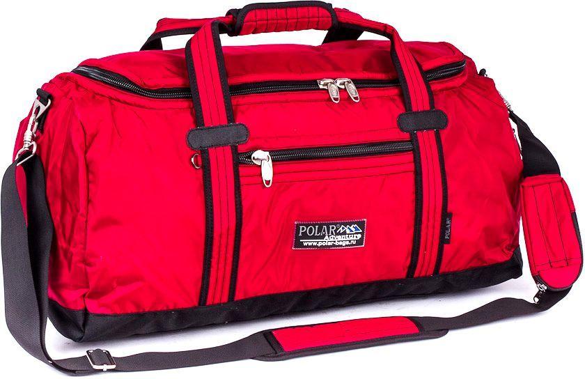 Сумка спортивная Polar, цвет: красный, 29 л, 27 х 48 х 22 см. П809В-01П809В-01Спортивная сумка для ваших вещей фирмы Polar. Материал- полиэстер с водоотталкивающим покрытием. Большое основное отделение для Ваших вещей. Карман на молнии спереди сумки и сбоку. Имеется плечевой ремень.