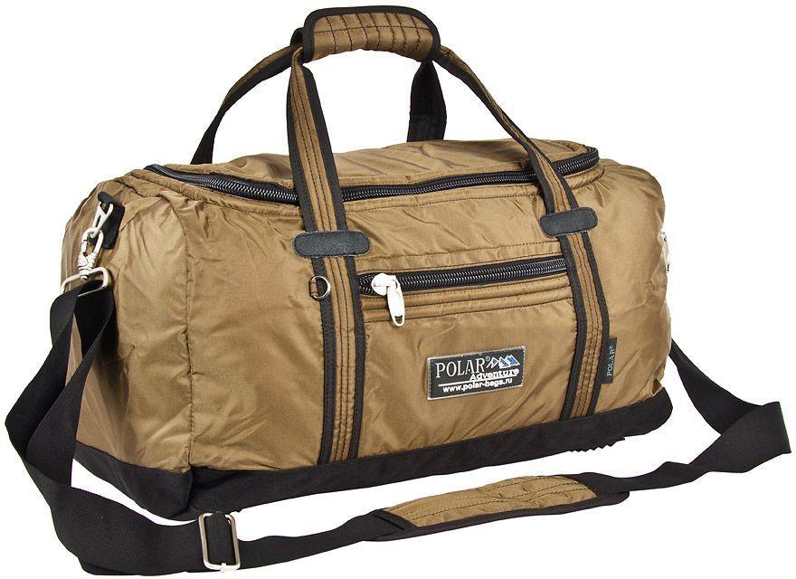 Сумка спортивная Polar, цвет: бежевый, 29 л, 27 х 48 х 22 см. П809В-13П809В-13Спортивная сумка для ваших вещей фирмы Polar. Материал- полиэстер с водоотталкивающим покрытием. Большое основное отделение для Ваших вещей. Карман на молнии спереди сумки и сбоку. Имеется плечевой ремень.