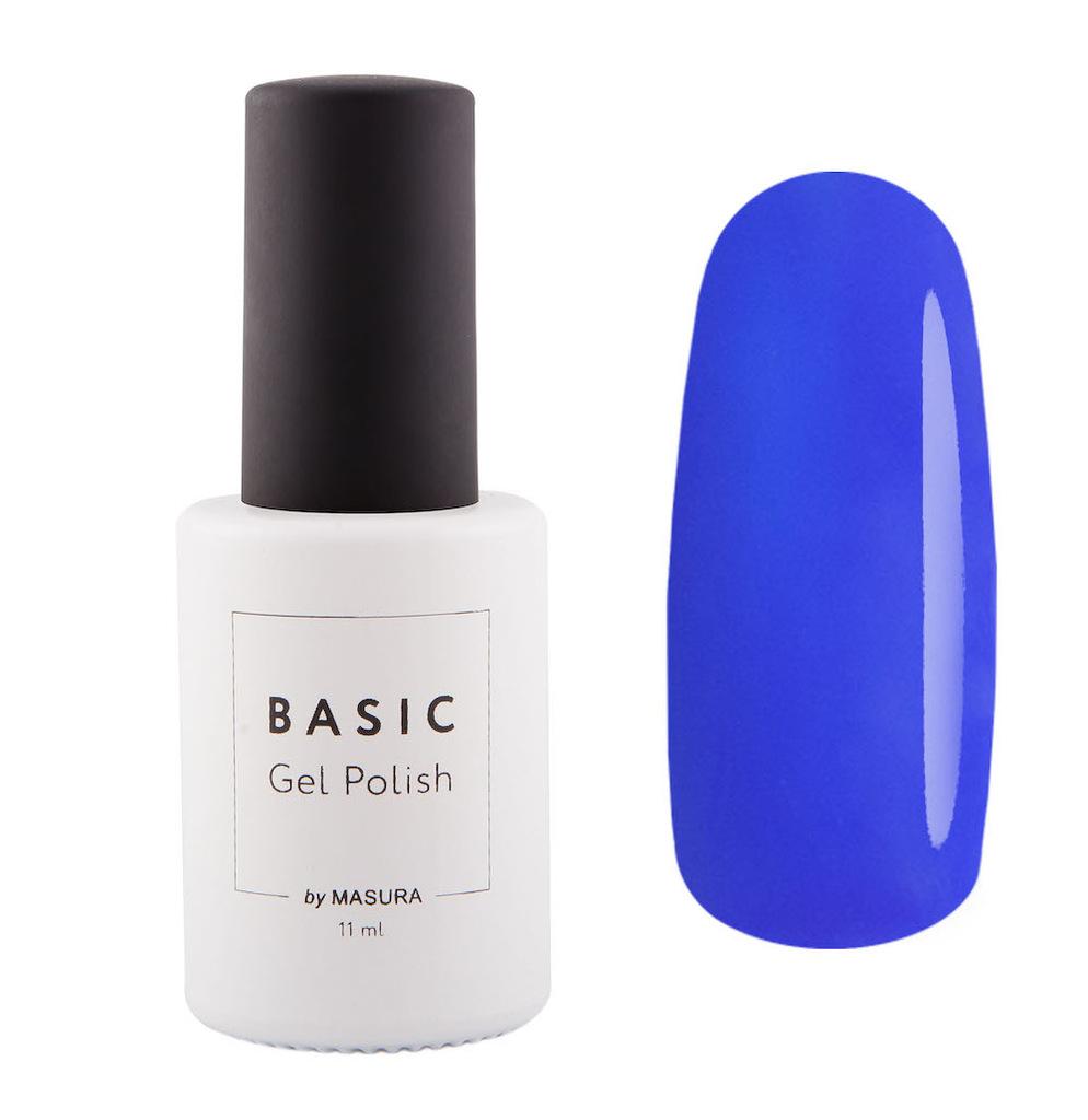 Masura Гель-лак BASIC Лазурит, 11 мл294-315яркий цвет лазурита с кобальтово-синим подтоном, плотный