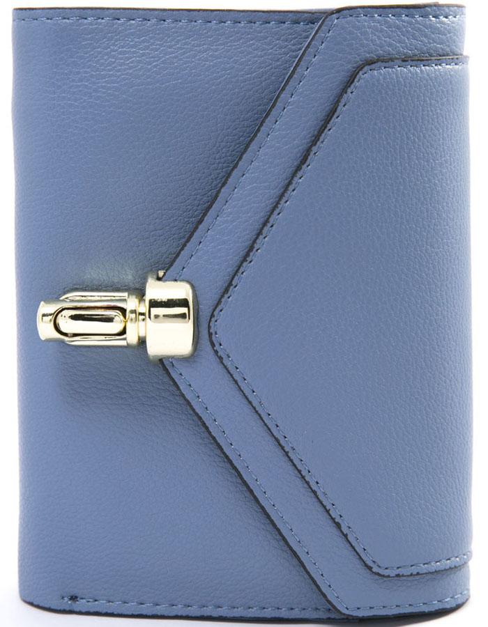 Кошелек женский Mitya Veselkov, цвет: голубой. K4-ZASCH-BLUEK4-ZASCH-BLUEЭлегантный и компактный расклыдвающийся кошелек на защелке с 2 отделениями, отделениями для карточек и скидочных карт и карманом для мелочи на защелке внутри. Размер 13X10 см