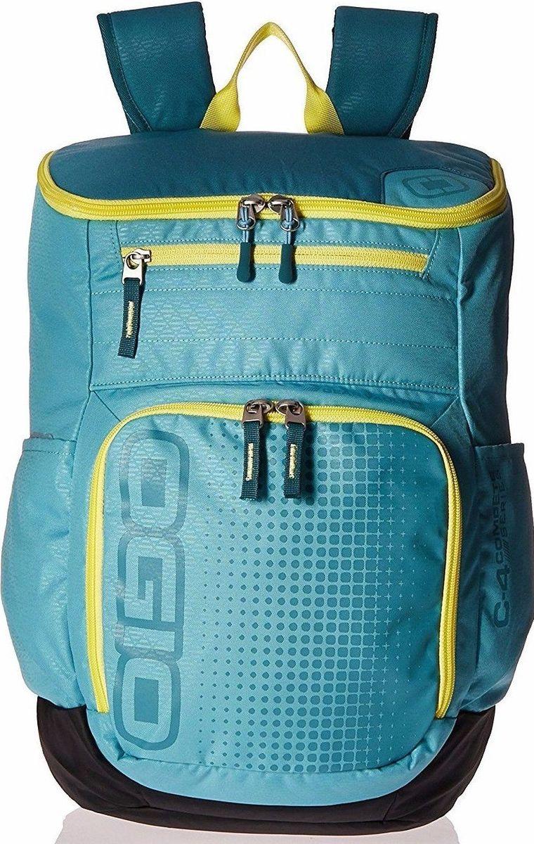 Рюкзак городской OGIO Active. C4 Sport Pack (A/S), цвет: голубой, желтый. 031652226876031652226876Удобнейший рюкзак для занятий спортом с огромным основным отделением и несколькими внешними карманами. Туда поместится экипировка практически для любого вида спорта. Вам он точно понравится.
