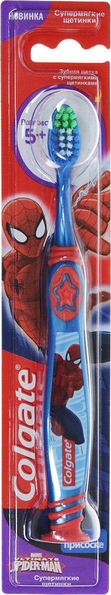 Colgate Зубная щетка Spider-man, детская, цвет синий, красный, с мягкой щетиной пластилин spider man 10 цветов