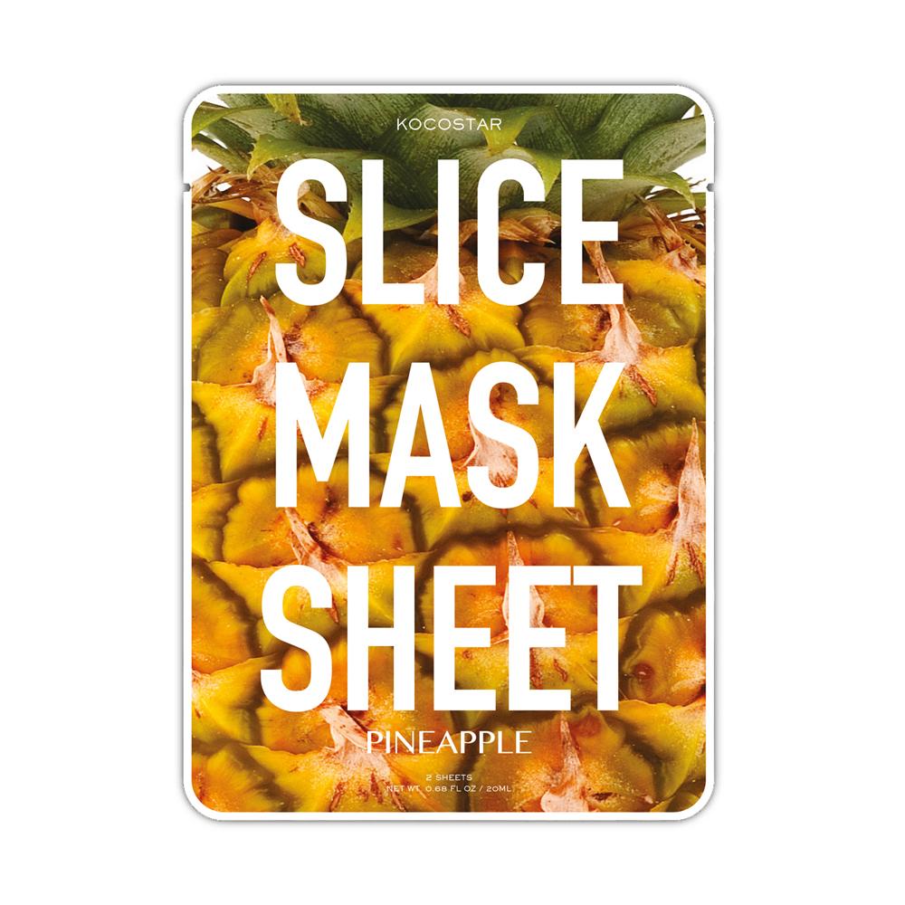 Kocostar Маска-слайс для лица Ананас , 20 мл / Slice Mask Sheet (Pineapple)2700000001028_нов.дизайнОригинальная и очень эффективная маска в виде сочных тонких ломтиков ананаса разработана специальная для повышения упругости кожи лица. Средство имеет ярко выраженный лифтинг эффект, активирует обменные процессы, способствуя повышению тонуса кожи.Экстракт ананаса отлично отшелушивает омертвевшие клетки, а входящие в состав антиоксиданты помогают в поддержании молодости кожи лица. Экстракт папайи бореться с несовершенствами кожи, выравнивая ее тон, а экстракт кокоса активно питает ее. Гиалуроновая кислота в составе маски-слайс обеспечивают глубокое увлажнение и активизирует защитные свойства кожи.