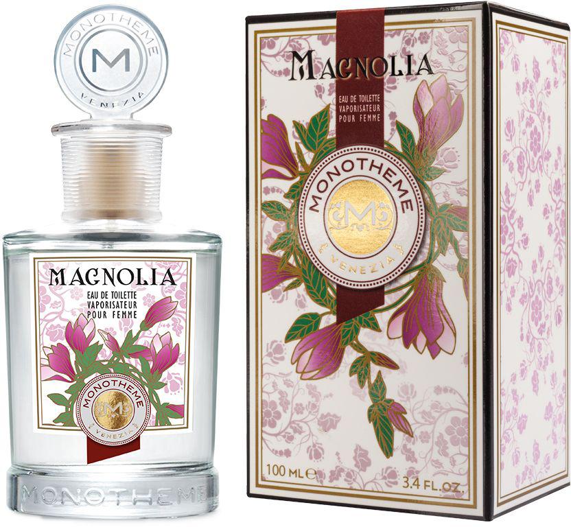 Monotheme Туалетная вода женская Monotheme Classic Magnolia, 100 мл191125В верхних нотах аромата мы найдем легкость и свежесть коктейля из цитрусовых и зеленых нот. Магнолия, чье звучание усилено композицией из белых цветов, предстает перед нами во всей своей экзотической красоте, как только нам открываются сердечные ноты аромата. Величественные и благородные ингредиенты воспевают гимн красоте и торжествующей женственности. Базовые ноты подчеркивают чувственность аромата, раскрываясь на коже гармоничным созвучием тонких мускусных и интенсивных древесных нот.