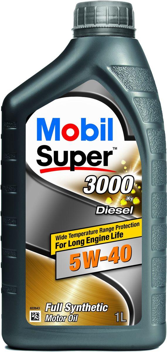 "Масло моторное Mobil ""Super 3000 X1 Diesel GSP"", класс вязкости 5W-40, 1 л 152573"