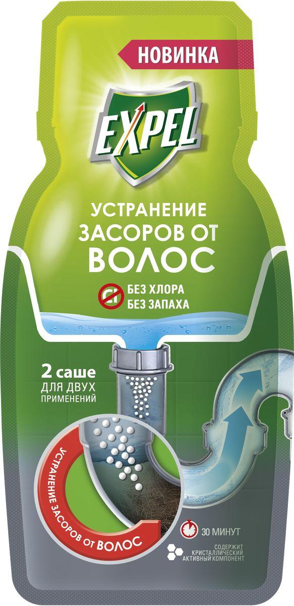 Средство для устранения засоров от волос Expel, 2 саше х 50 г68/5/3Современное средство для ликвидации засоров от волос. Устраняет сложные засоры из спутанных волос. Специально разработанная рецептура содержит кристаллический активный компонент Удобная дозировка: 2 саше для двух применений Безопасно для труб Без хлора Без запаха