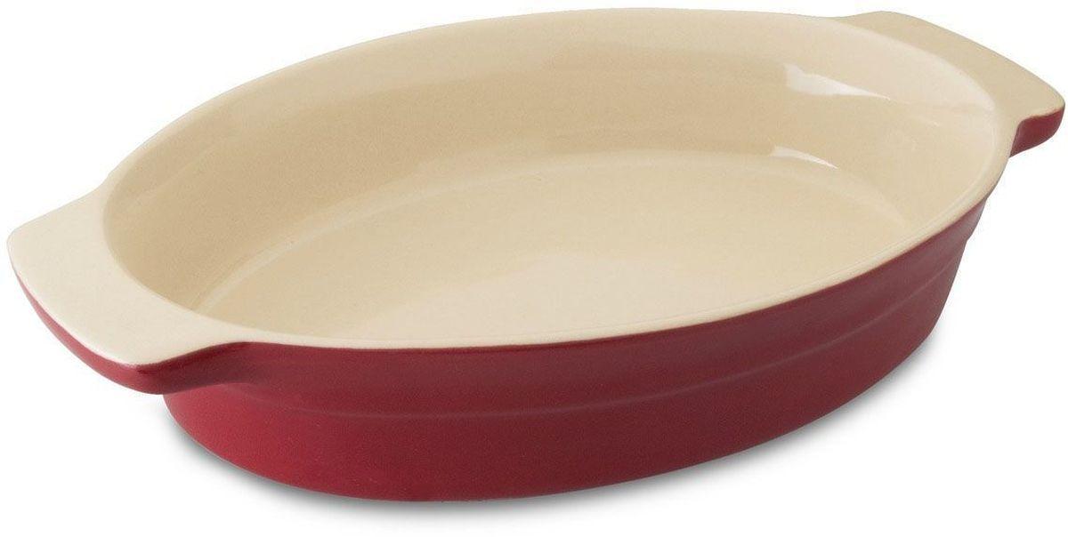 Блюдо для запекания BergHOFF Geminis, овальное, 29 х 18,5 х 5,5 смCM000001328Блюдо для выпечки BergHOFF Geminis овальной формы изготовлено из жаропрочной глазурованной керамики, что обеспечивает оптимальное распределение тепла. Подходит для запекания различных блюд. Может быть использовано для подачи запеченных и охлажденных блюд на стол. Подходит для использования в СВЧ и духовом шкафу. Можно мыть в посудомоечной машине.
