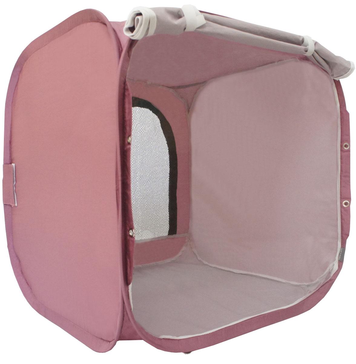 Палатка для выставки животных Шоу-Петс, цвет: бордовый, 60 х 60 х 60 см. ПВЛ1БПВЛ1БПалатка разработана профессиональными заводчиками для тех, кто хочет перемещаться и выставляться со своими питомцами легко и комфортно: - палатка разворачивается и сворачивается за 30 секунд; - экран палатки выполнен из суперпрозрачной пленки, шторка по желанию может опускаться и полностью закрывать экран от взглядов посетителей выставки; - палатка сворачивается восьмеркой в компактный блинчик и убирается в компрессионный чехол (идет в комплекте); - в комплекте к палатке идут ремни для крепления к столу, а так же ими удобно фиксировать палатку в поезде на верхней полке или в машине; - со стороны заводчика расположен большой удобный вход в палатку на молнии, бегунки молнии фиксируются крепежом, не позволяющим животному самостоятельно открыть вход и выбраться из палатки; - в скрученном виде палатка практически не занимает места в багаже и не ощущается по весу; - данный размер палатки предназначен для комфортного размещения на выставке одного животного среднего размера; - материал...