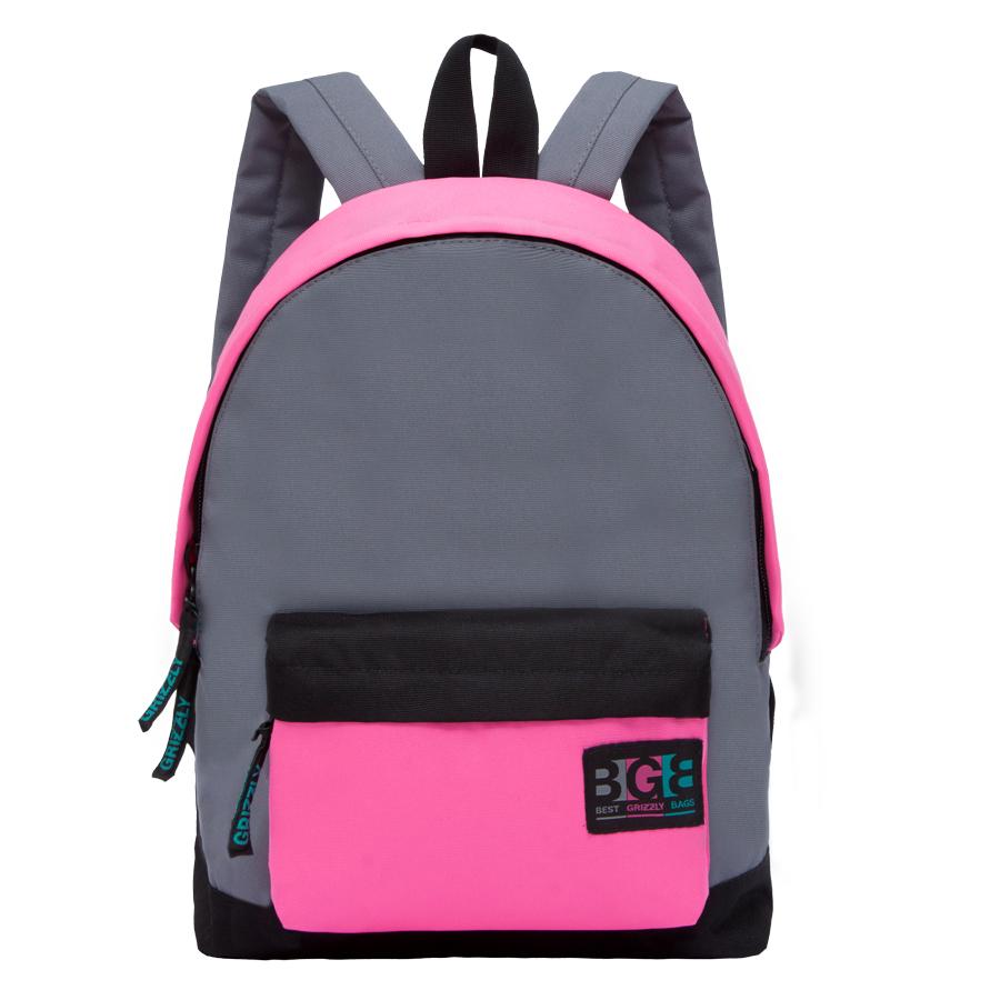 Рюкзак городской женский Grizzly, цвет: серый. RD-750-4/1RD-750-4/1Рюкзак молодежный, одно отделение, объемный карман на молнии на передней стенке, внутренний подвесной карман на молнии, укрепленная спинка, дополнительная ручка-петля, укрепленные лямки