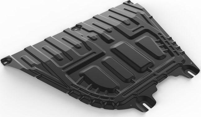 Защита картера и КПП Автоброня Hyundai Solaris, V - 1,6; АКПП 2017-/Kia Rio, V - 1.6; МКПП, сталь 2 мм, комплект крепежа