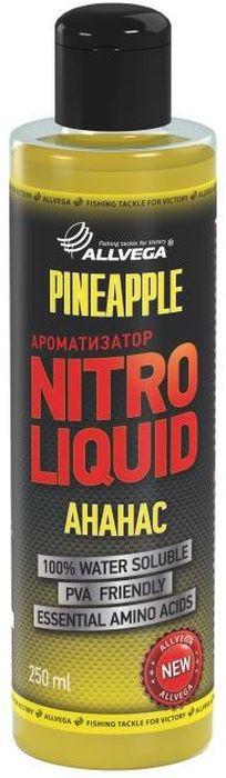 Ароматизатор жидкий для рыбалки ALLVEGA Nitro Liquid Pineapple, ананас, 250 мл0057674Это любимый рыболовами нежный фруктовый вкус. Всегда считался эффективной добавкой для ловли карпа и леща. Особенно в теплой воде.