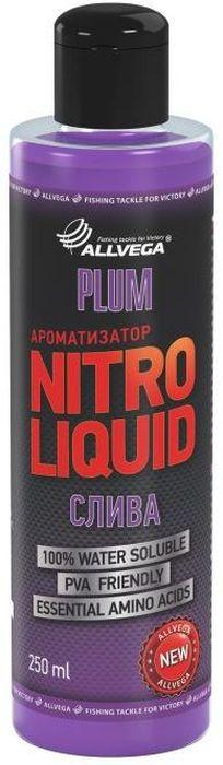 Ароматизатор жидкий для рыбалки ALLVEGA Nitro Liquid Plum, слива, 250 мл0057679Этот любимый рыболовами нежный фруктовый вкус считается одним из эффективных для ловли белой рыбы.