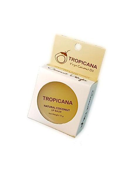 Бальзам для губ Кокосове наслаждение Tropicana5010777142037В основу бальзама входит натуральное кокосовое масло холодного отжима, обладающее увлажняющими и питательными свойствами, масло какао и масло ши. Помогает коже губ оставаться увлажненными, снимает сухость, препятствует образованию микро-трещинок. Зрительно увеличивает губ. Спасает от ожогов на солнце, а также ухаживает и увлажняет в зимний период. С приятным ароматом кокоса. Не содержит в себе отдушек и химических добавок.