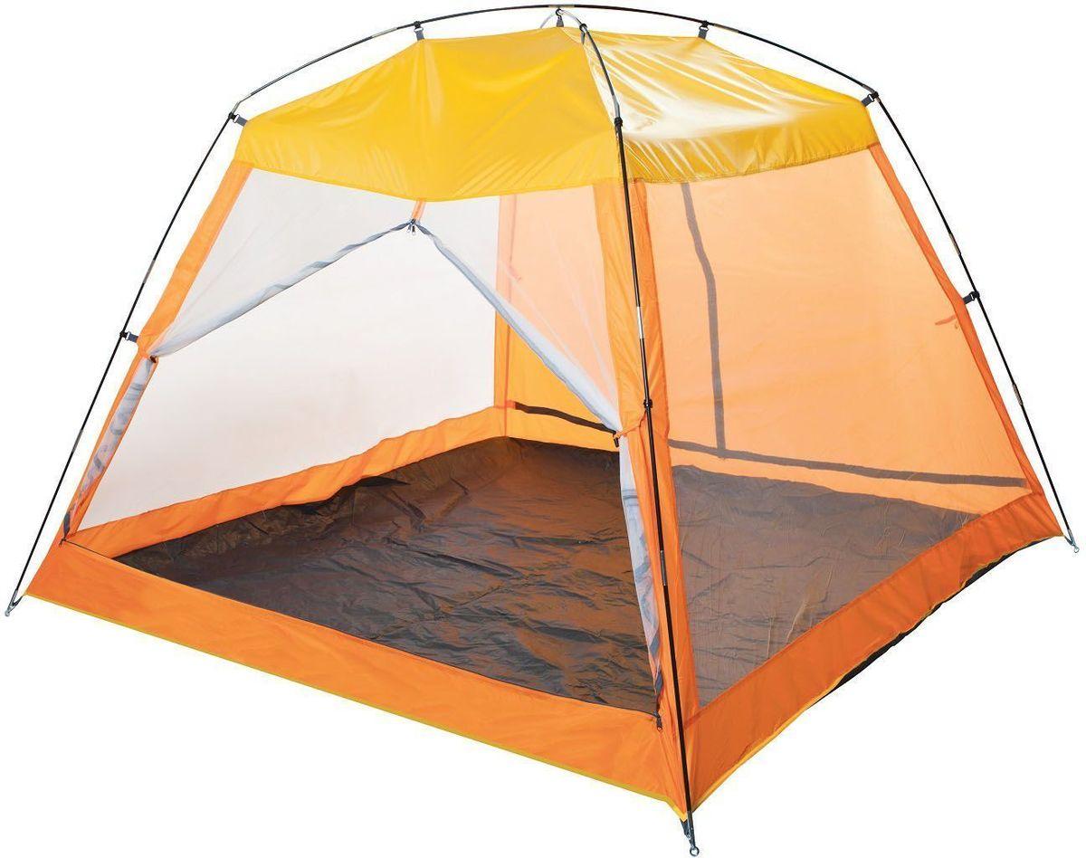 Тент пляжный GoGarden Malibu Beach, 210 х 210 х 150 см, цвет: желтый, оранжевый50210Пляжный тент GoGarden Malibu Beach, обеспечивает защиту от солнца, ветра и даже легких осадков - особенно полезен для очень маленьких детей. Тент полностью закрывается, очень прост в установке, имеет малый вес и удобный чехол с ручкой для переноски. Особенности модели: Простая и быстрая установка, Тент палатки из полиэстера, с пропиткой PU Одна сторона шатра из полиэстера, защищает от ветра легкого дождя, также является дверью с молнией по центру, удобно сворачивающейся в стороны, Три другие стороны из москитной сетки позволяют шатру отлично проветриваться, защищая от насекомых, Дверь из москитной сетки с молнией по центру, удобно сворачивается в стороны, Каркас выполнен из прочного стеклопластика, Дно изготовлено из прочного армированного полиэтилена, Характеристики: Цвет: желтый/оранжевый. Размер шатра: 210 см х 210 см х 150 см. Материал шатра: 100% полиэстер, пропитка PU. Водостойкость тента: 800мм. Материал...