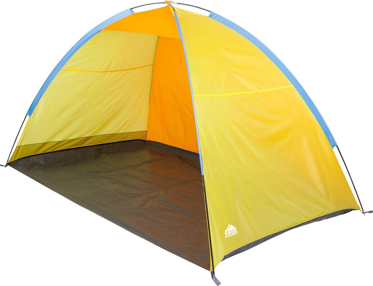 Тент пляжный Trek Planet Virginia Beach, 220 х 130 х 120 см, цвет: желтый, оранжевыйS04402003Пляжный тент Trek Planet Virginia Beach, обеспечивает защиту от солнца и ветра, незаменим для отдыха на море или на даче! Очень прост в установке, имеет малый вес и удобный чехол с ручкой для переноски.Особенности модели:Простая и быстрая установка,Тент шатра из полиэстера, с пропиткой PU, за которым удобно укрыться от палящего солнца,Каркас выполнен из прочного стеклопластика,Дно изготовлено из прочного армированного полиэтилена, Карманы для мелочей по бокам тента. Характеристики:Цвет: желтый/оранжевый.Размер шатра: 220 см х 130 см х 120 см.Материал шатра: 100% полиэстер, пропитка PU.Водостойкость тента: 800мм.Материал дуг: стеклопластик 7,9 мм.Вес: 1,4 кг.Размер в сложенном виде: 10 см х 68 см.Производитель: Китай.Артикул: 70264.