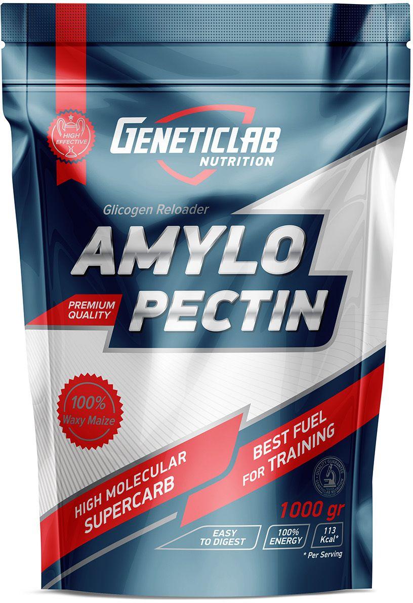 Углеводы Geneticlab Amylopecitn, без вкуса, 1000 г4156687Амилопектин от Geneticclab помогает: увеличить продолжительность работы под нагрузкой, обеспечить длительные тренировки; ускорить восстановление мышц, положительно воздействовать на синтез белка; беспечить питание спортсмена во время тренировки.
