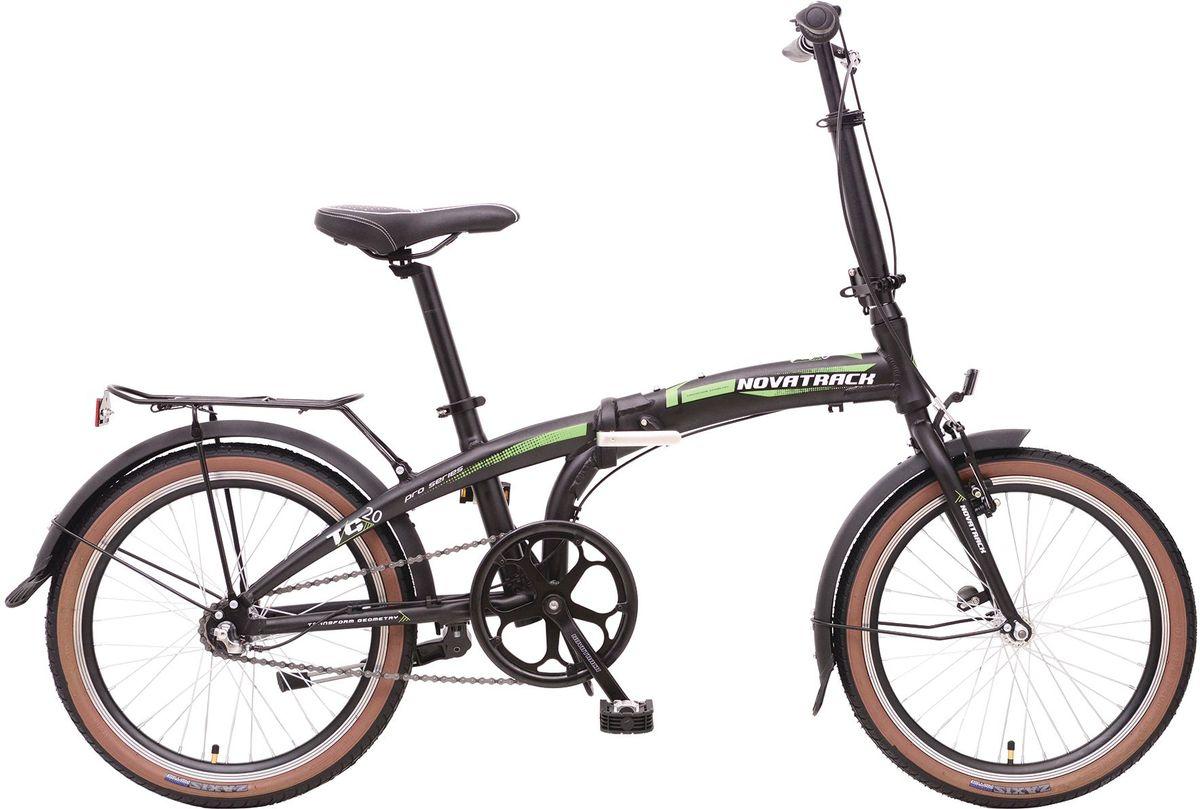 """Велосипед складной Novatrack """"TG-20"""", цвет: черный, 20"""""""