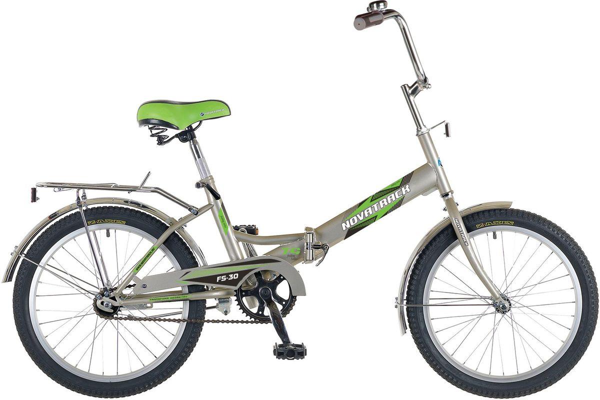 Велосипед детский Novatrack FS-30, цвет: серебристый, 2020FFS301.GR5Novatrack FS-30 20'' – это складной подростковый велосипед, рассчитанный на ребят 8-14 лет, который отличается неприхотливостью, хорошей управляемостью и практичностью. Стальная рама складывается пополам, позволяя разместить велосипед в автомобиле или компактно хранить его в домашних условиях. Стоит отметить широкий диапазон регулировки высоты сидения и руля, благодаря чему велосипед универсален и подойдет для ребят различного роста. Торможение осуществляется ножным тормозом, который работает при любых условиях. Велосипед оснащен хромированными крыльями, широким усиленным багажником, защитным кожухом цепи, подножкой и светоотражателями.