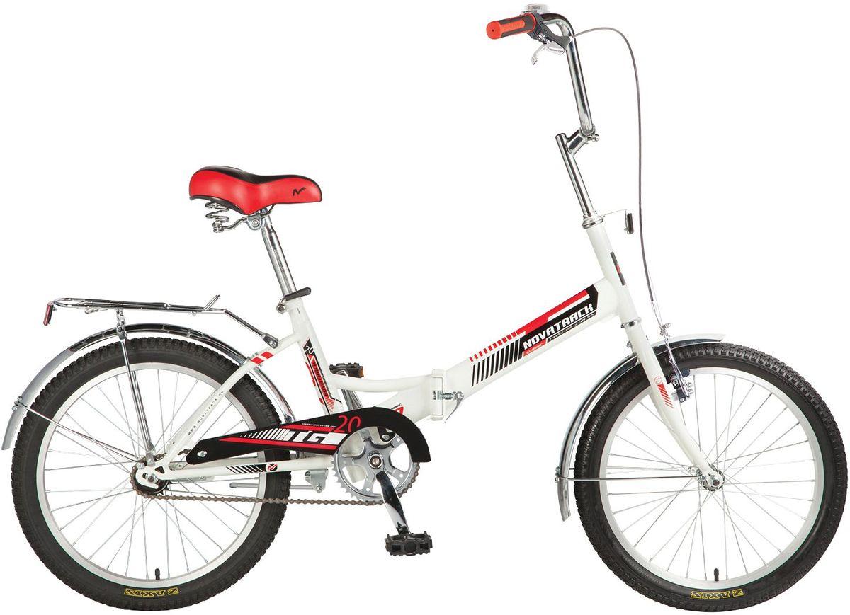 Велосипед детский Novatrack TG-30 Classic, цвет: белый, 2020FTG301V.WT7Перед вами cовременный, удобный и безопасный складной велосипед, катаясь на котором ребенок не только будет укреплять здоровье и развиваться физически, но и получит море удовольствия. Велосипед Novatrack TG-20 classic' благодаря своей универсальности подойдет подойдёт абсолютно всем . Его отличает надежность, неприхотливость и отличная управляемость – несмотря на то, что велосипед можно отнести к категории городских, он отлично показывает себя на парковых и дачных дорогах. Стильная расцветка, усиленный багажник, ножной тормоз – это еще не все преимущества данной модели. Велосипед оснащен защитой цепи, которая обезопасит нижнюю часть одежды от попадания в механизм. Мягкое и удобное сидение велосипеда позволит с комфортом кататься хоть по несколько часов подряд. Сидение и руль регулируются по высоте и надежно фиксируются. Встроенная подножка позволяет велосипеду принять устойчивое положение во время стоянки. Прочная стальная рама складывается пополам, что позволяет перевозить велосипед...