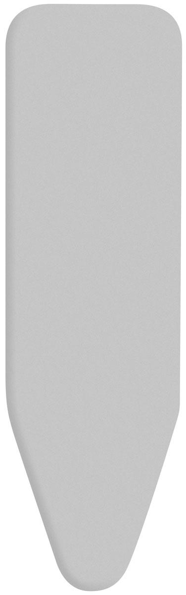 Чехол для гладильной доски Brabantia, 124 х 45 см136702Чехол для гладильной доски Brabantia подарит Вашей доске новую жизнь и создаст идеальную поверхность для глажения и отпаривания белья. Чехол разработан специально для гладильных досок Brabantia и подходит для большинства утюгов и паровых систем. Изготовлен из металлизированного хлопка и отражает тепло для быстрого глажения. Подкладка из поролона толщиной 2 мм. Благодаря системе фиксации (эластичный шнурок с ключом для натяжения и резинка с крючками по центру) чехол легко крепится к гладильной доске, а поверхность всегда остается гладкой и натянутой. С помощью цветной маркировки на чехле и гладильной доске Вы легко подберете чехол подходящего размера. Всегда используйте этот чехол в сочетании со слоем вискозы и/или слоем поролона. Характеристики: Материал: метализированный хлопок, поролон. Размер чехла: 124 см х 45 см. Артикул: 136702. Гарантия производителя: 5 лет.