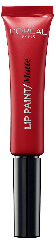 LOreal Paris Краска для губ Infaillible Lip Paint, жидкая помада, матовая, Оттенок 204, Истинный красный, 8 млA8986600Яркие пигменты помад дарят насыщенный цвет, а плотная текстура легко ложится на губы и не стирается. Профессиональный аппликатор позволяет легко и точно нанести продукт на губы.