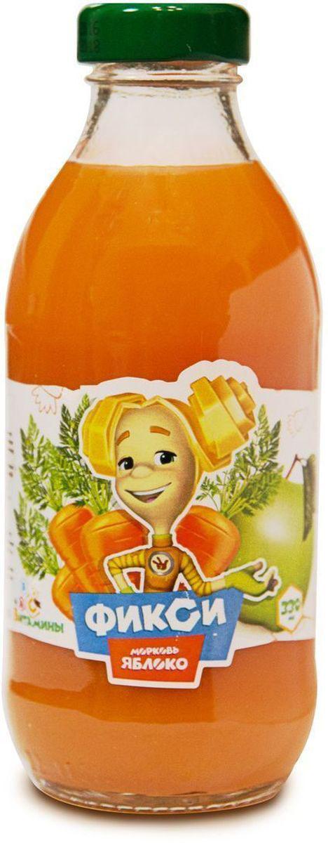 Фиксики Морковь Яблоко нектар детский, 0,33 л0004Нектар морковь-яблоко с мякотью гомогенизированный ГОСТ 32100-2013. Минимальная объемная доля пюре 50%. Изготовлен из концентрированного пюре.