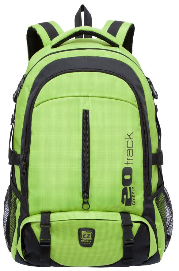 Рюкзак городской мужской Grizzly, цвет: светло-зеленый. RU-708-2/2RU-708-2/2Рюкзак молодежный, два отделения, карман на молнии на передней стенке, объемный карман на молнии на передней стенке, боковые карманы из сетки, боковые стяжки-фиксаторы, внутренний карман для ноутбука, жесткая анатомическая спинка, дополнительная ручка-петля, мягкая укрепленная ручка, нагрудная стяжка-фиксатор, укрепленные лямки