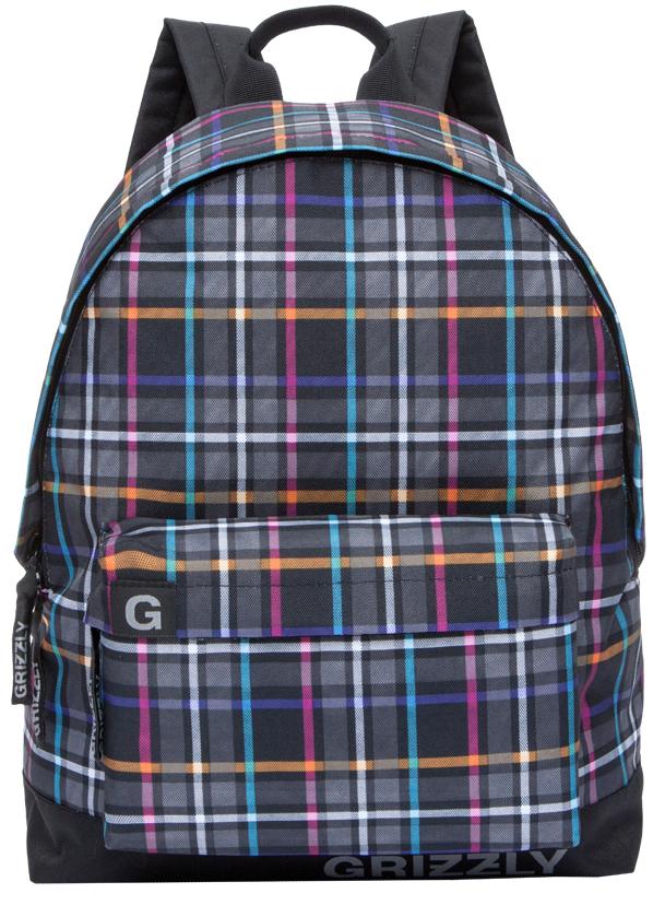 Рюкзак городской Grizzly, цвет: черный, мультиколор. RU-709-3/1BP-001 BKРюкзак городской Grizzl выполнен из высококачественного нейлона в сочетании с полиэстероми оформлен оригинальным принтом. Рюкзак имеет ручку-петлю для подвешивания и две удобные лямки, длина которых регулируется с помощью пряжек. Модель имеет одно основное отделение на молнии, с внутренним подвесным карманом. Передняя сторона оформлена объемным карманом на застежке-молнии. Тыльная сторона рюкзака имеет укрепленную спинку.