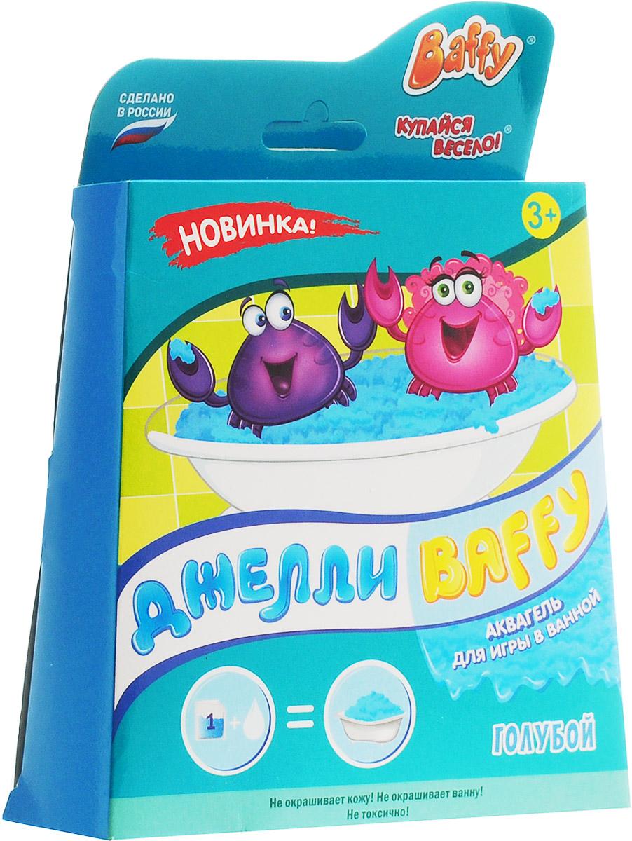 Baffy Набор средств для купания Джелли цвет голубойFS-00897Набор средств для купания Baffy Джелли сделает пребывание в ванне очень веселым.Купание превратится в интересную увлекательную игру с помощью аквагеля. Наблюдайте за волшебством: вода легко превращается в желе и обратно!Развивайте мелкую моторику у ребенка даже во время принятия ванны!
