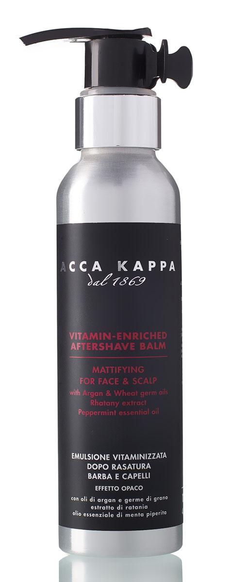 Acca Kappa Бальзам после бритья 125 мл853512Интенсивно питающий бальзам после бритья разработан для уменьшения раздражения, вызванного бритьем. Борется с излишним блеском и придает коже приятное ощущение свежести.