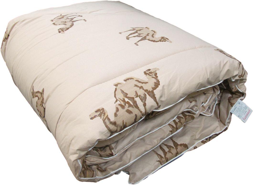 Одеяло Сорренто Верблюжья шерсть, теплое, цвет: бежевый, 140 х 205 см27587