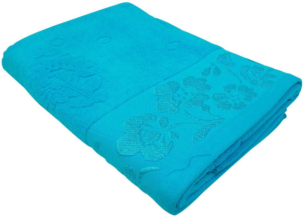 Полотенце махровое НВ Ромашка, цвет: синий, 70 х 130 см. м0177_0140706
