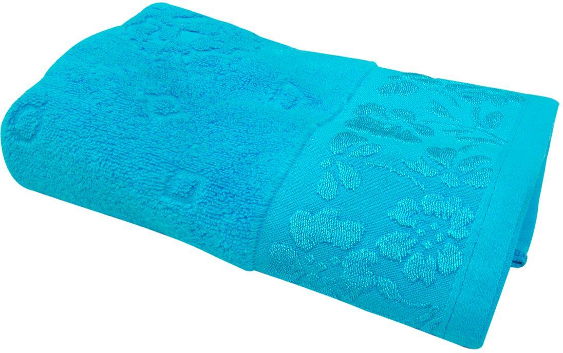 Полотенце махровое НВ Ромашка, цвет: синий, 50 х 90 см. м0177_0140714