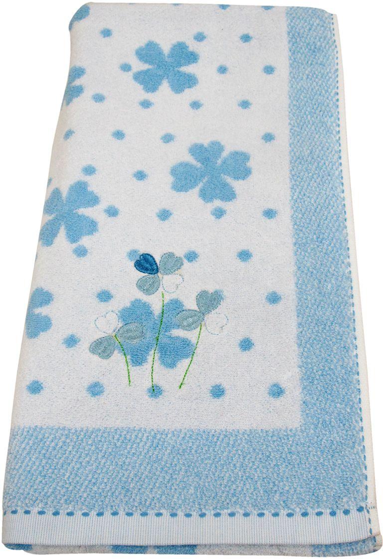 Полотенце махровое НВ Клевер, цвет: синий, 70 х 140 см. м0240_143245