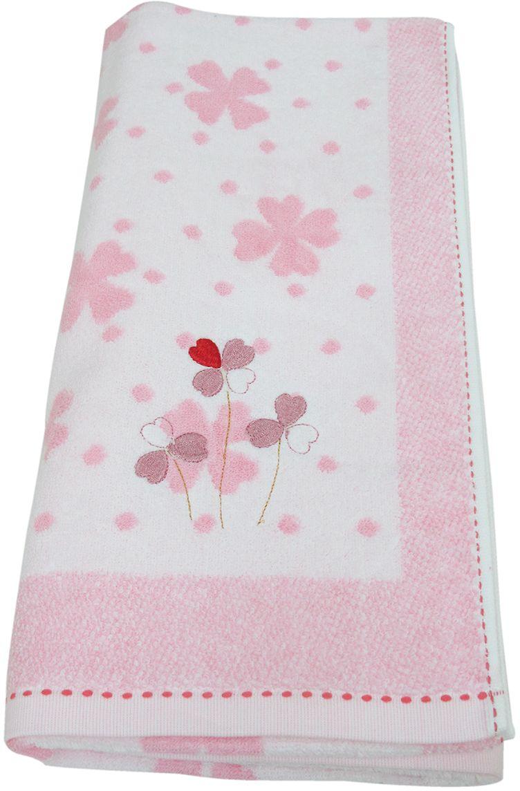 Полотенце махровое НВ Клевер, цвет: розовый, 70 х 140 см. м0240_243246