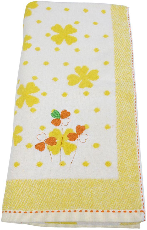 Полотенце махровое НВ Клевер, цвет: желтый, 70 х 140 см. м0240_643248
