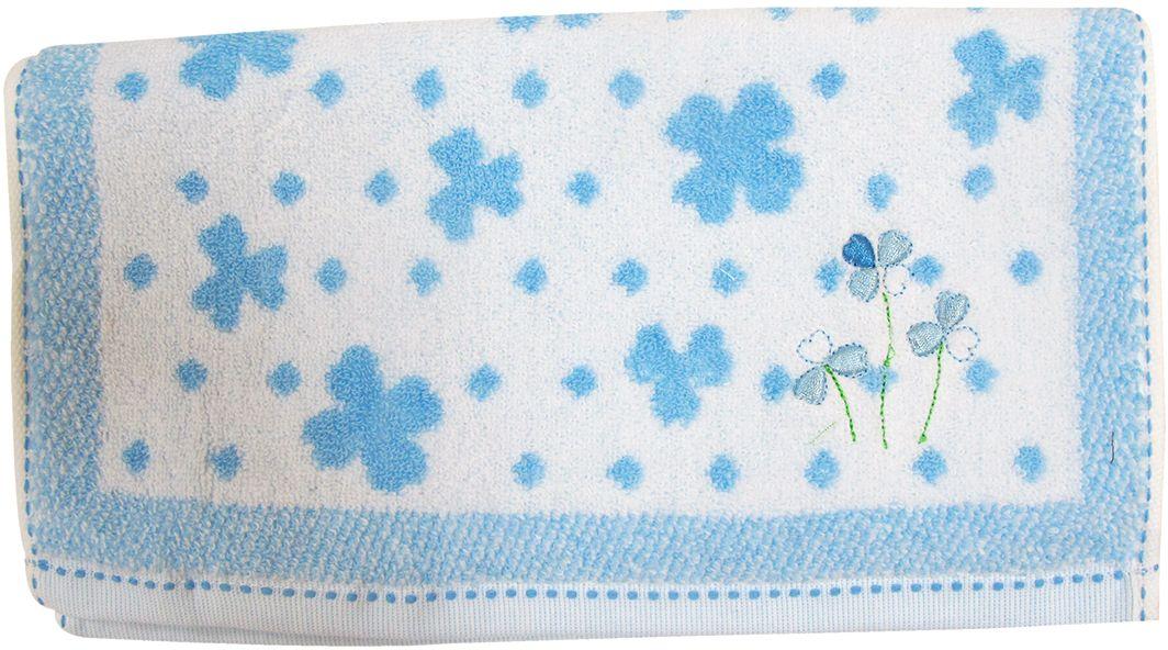 Полотенце махровое НВ Клевер, цвет: синий, 33 х 70 см. м0240_143249